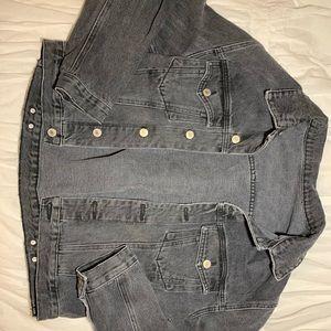 Black topshop jean jacket